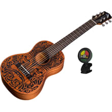Uke Tribal 6-String Mahogany Ukulele Bundle