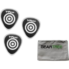 Set of 3 V-Picks Bulls-Eye UnBuffed Ghost Rim Clea