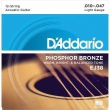 EJ38 Phosphor Bronze 12-String Acoustic Strings