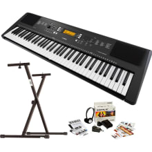 Yamaha PSR-EW300 76-Key Portable Piano Keyboard w/