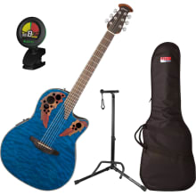 CE44P-8TQ Celebrity Elite Plus A/E Guitar Bundle