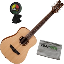 Dean Flight Spruce Travel Acoustic Guitar Bundle w