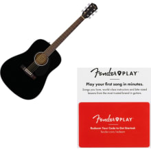 Fender 0961701006 CD-60S Solid Top Acoustic Guitar