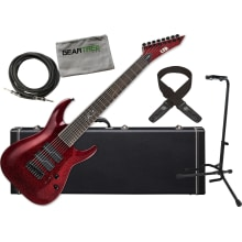 ESP LTD SC-608 Stephen Carpenter Baritone Red Spar