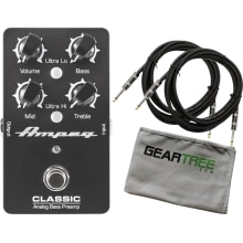 Ampeg Classic Analog Bass Guitar Preamp Pedal Bund