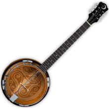 Celtic 6-String Laser-Etched Banjo
