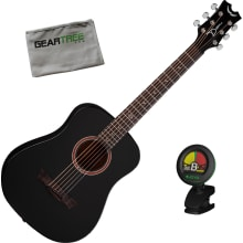 Dean Flight Mahogany Travel BKS Black Satin Acoust