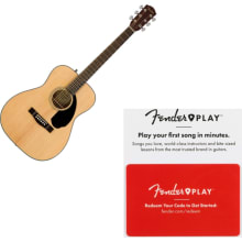 Fender CC-60S Solid Top Natural Concert Acoustic G