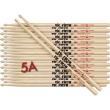 (12 Pair) 5A Wood Tip American Classic Drumsticks