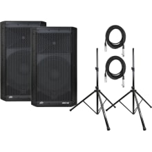 (2) DM112 Small Combo PA System Bundle