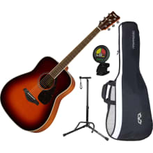 FG820BS Solid Sitka Spruce Acoustic Guitar Bundle