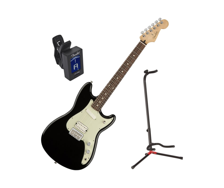 Offset Series Duo Sonic HS Black Guitar Bundle