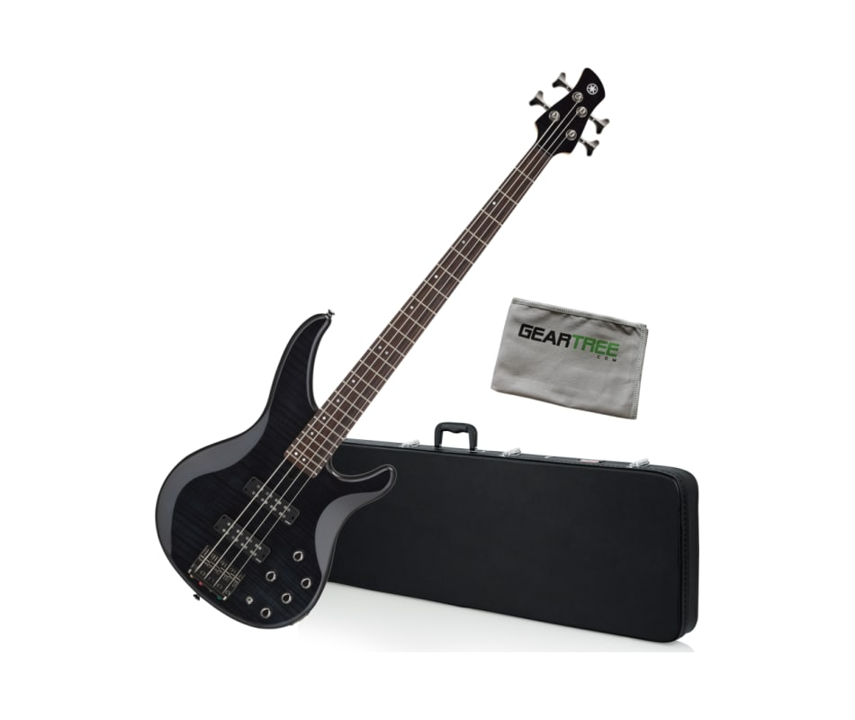 Yamaha TRBX604FM 4-String Translucent Black Bass G