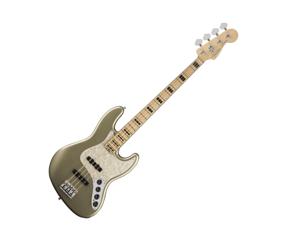 Fender American Elite Jazz Bass Maple FB Champagne