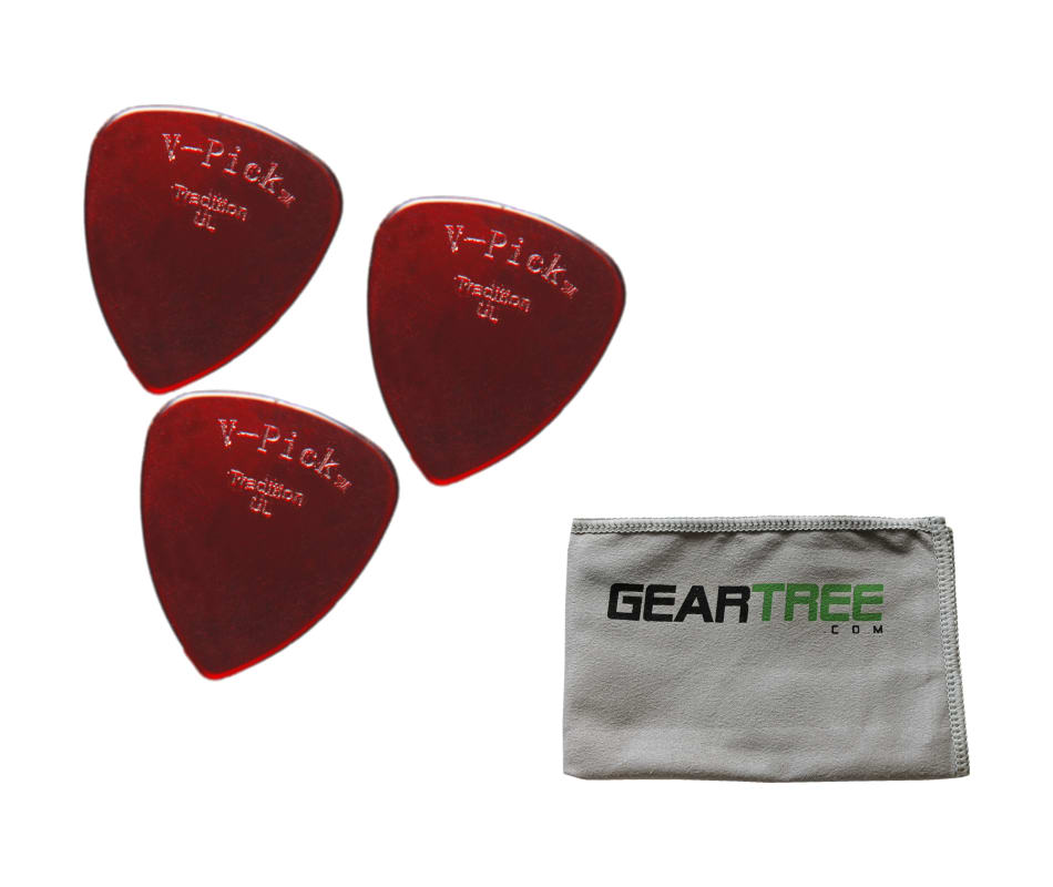 Set of 3 V-Picks Tradition Ultra Lite Ruby Red Cus