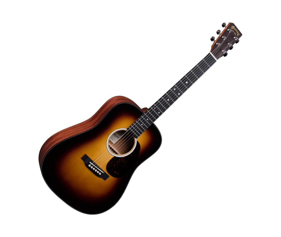 Martin D Jr-10 Acoustic Guitar Burst,Satin,Sit/Sap