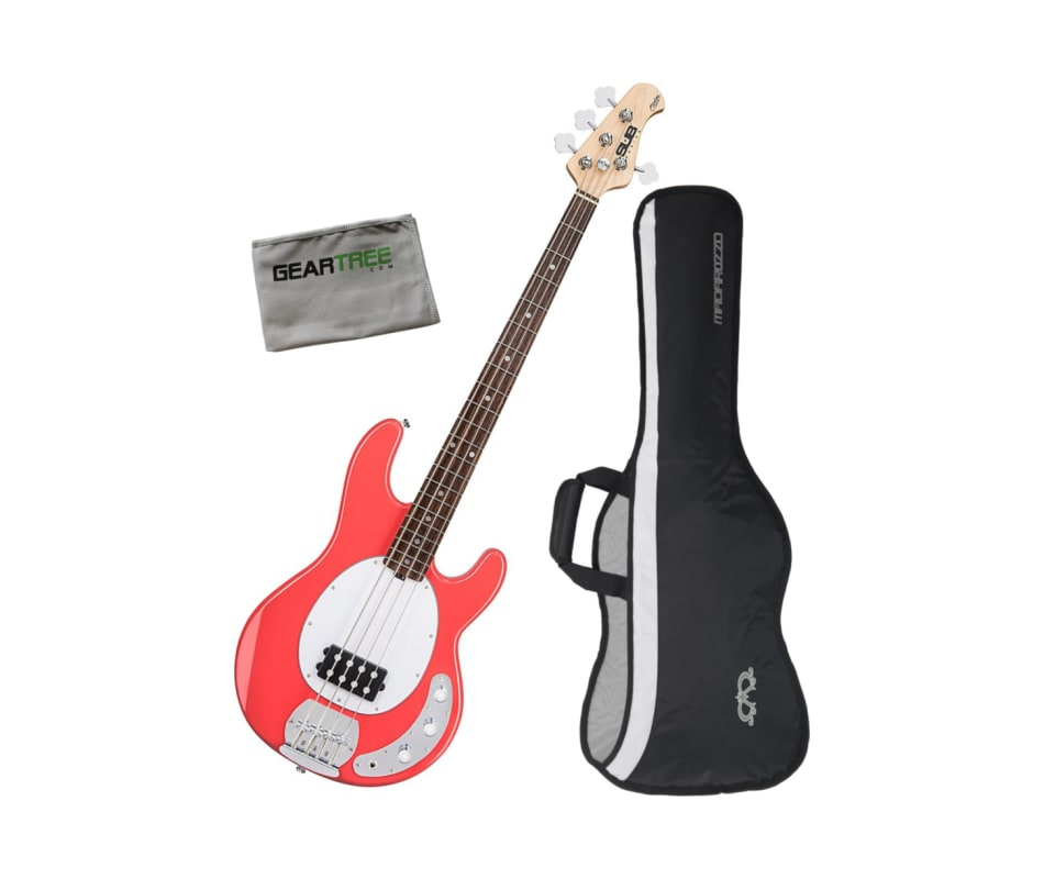 Ray4 Stingray 4-String Electric Bass Guitar Bundle