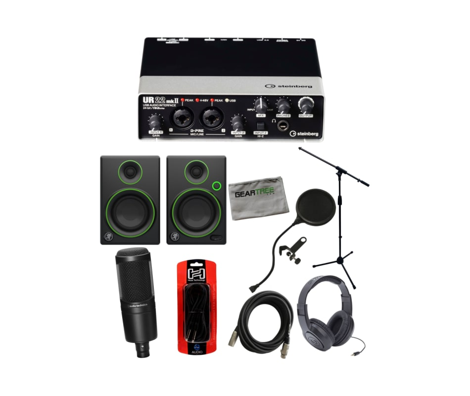 UR22mkII USB Audio Recording Interface Bundle