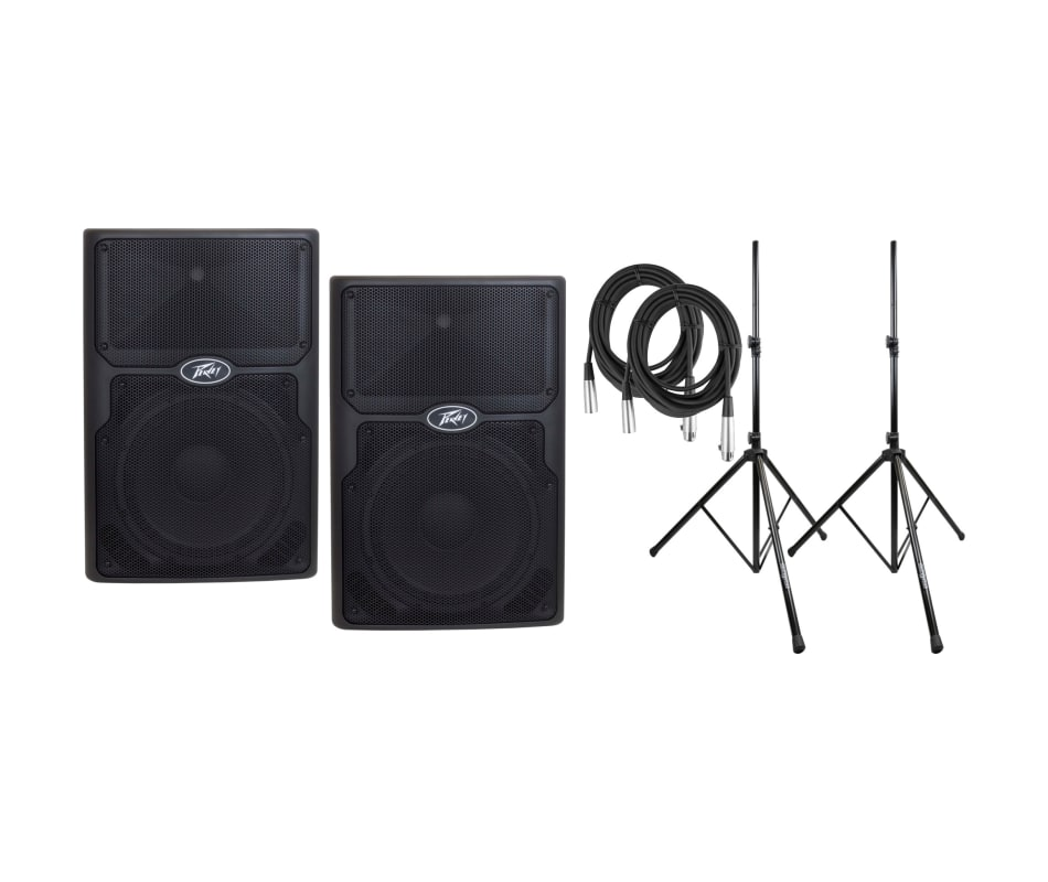 PVXp 15 DSP 830-watt Powered Speaker Bundle