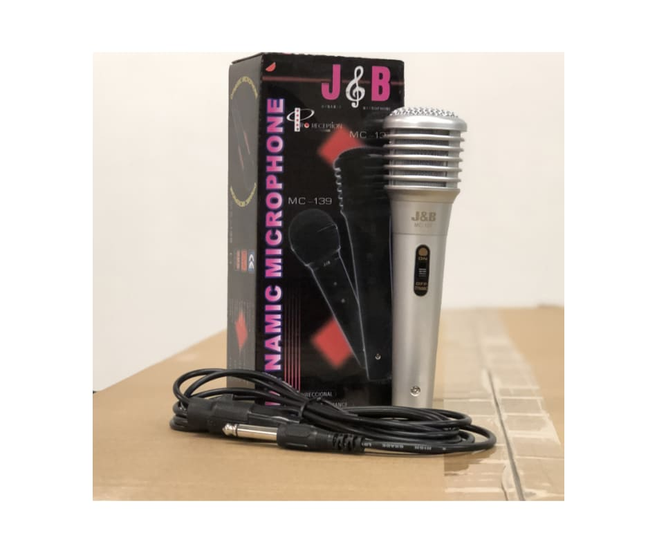 MC137S Vintage Silver Microphone Hi Z with Cable
