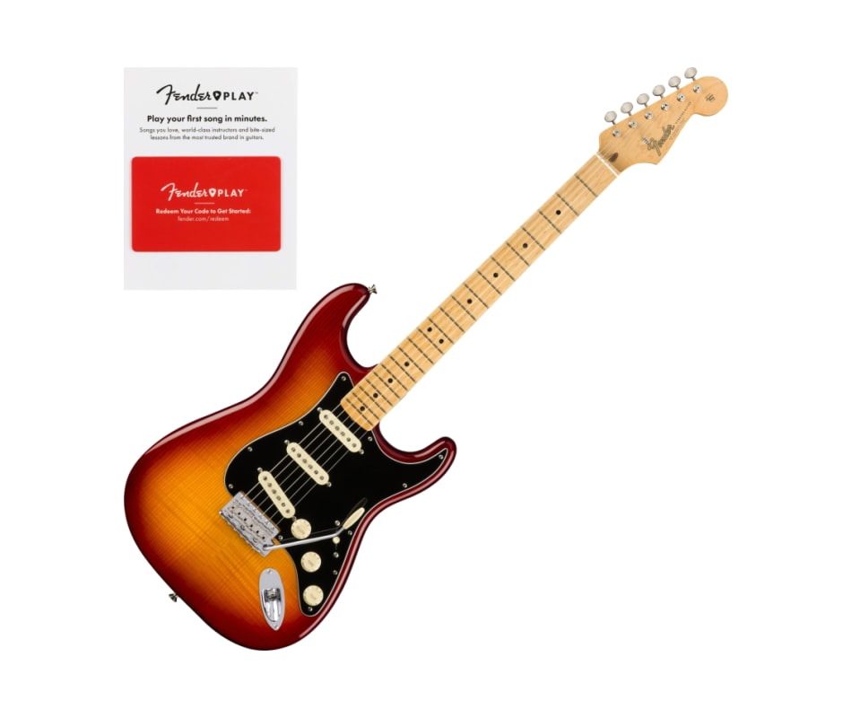Fender 0176502873 Rarities Flame Ash Top Stratocas