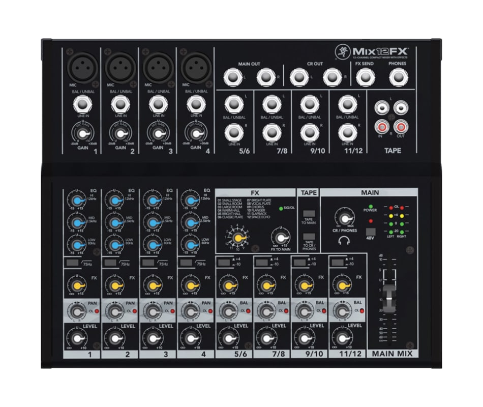 Mix12FX 12-Channel Compact Mixer w/ FX