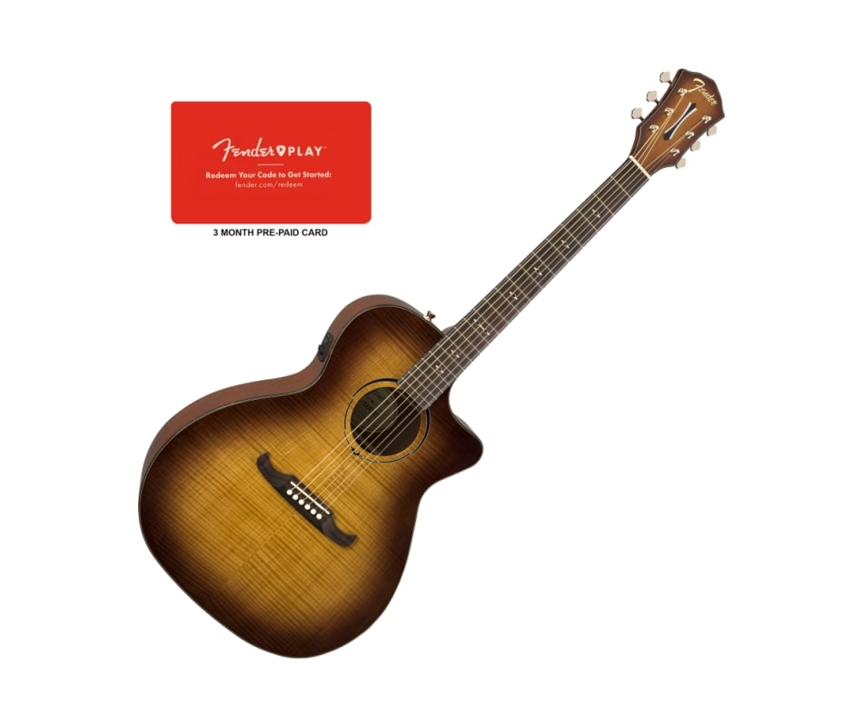Fender FA-345CE Auditorium CW Tea Burst Acoustic-E