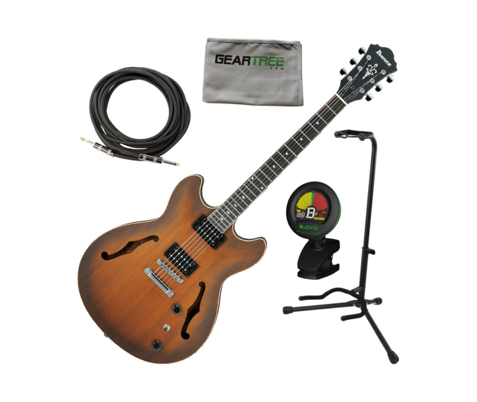AS53 TF AS Artcore Hollow Electric Guitar Bundle