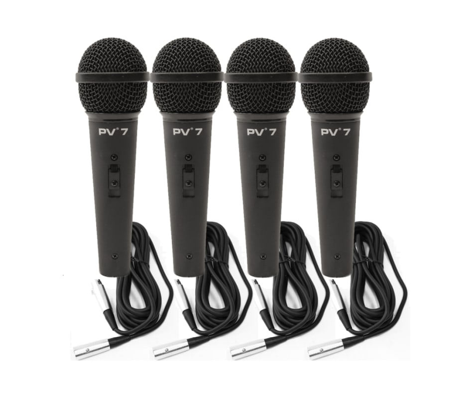 PV 7 ND Magnet Dynamic Microphones w/ XLR Cables