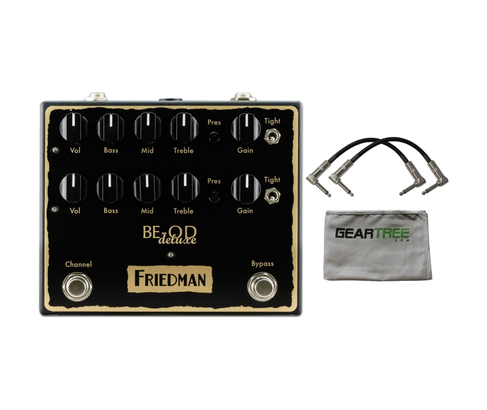 friedman be od deluxe dual overdrive pedal w polish cloth and 2 cables. Black Bedroom Furniture Sets. Home Design Ideas