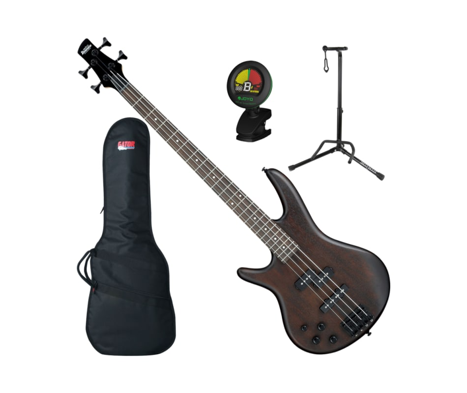 GSR200BLWNF Left-Handed 4-String Bass Bundle