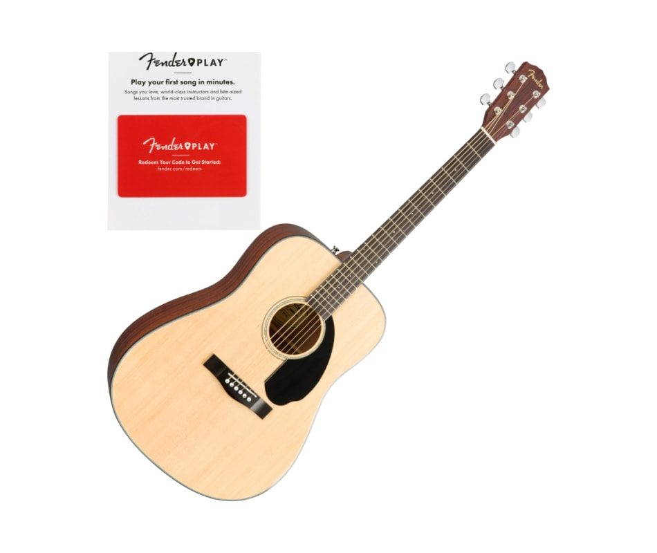 Fender 0970110021 CD-60S Dreadnought, Walnut Finge