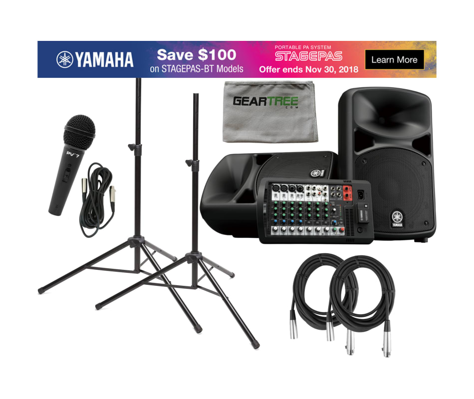 Yamaha STAGEPAS 600BT Portable PA System (with Blu