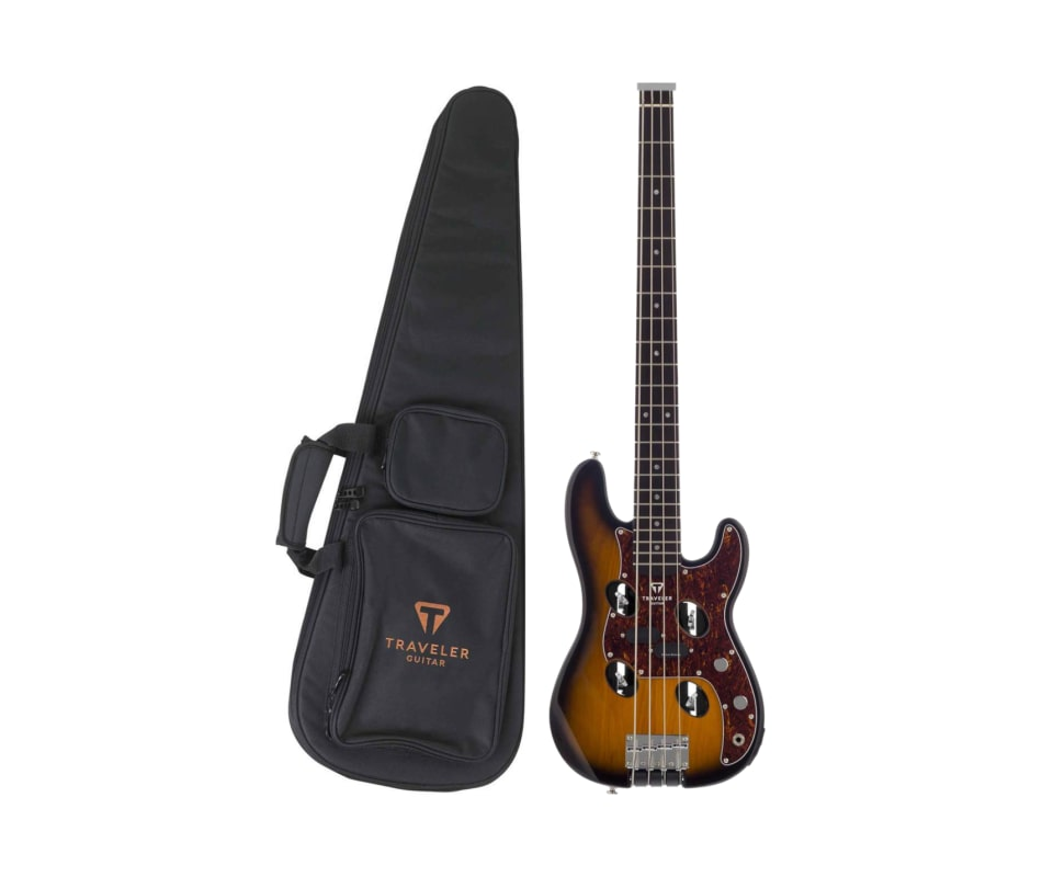 Traveler Guitar TB-4P Sunburst Travel Electric Bas
