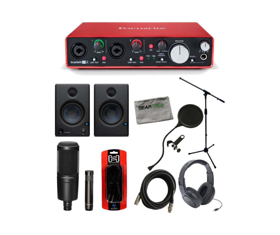 Scarlett 2i4 Desktop USB Audio Interface Bundle