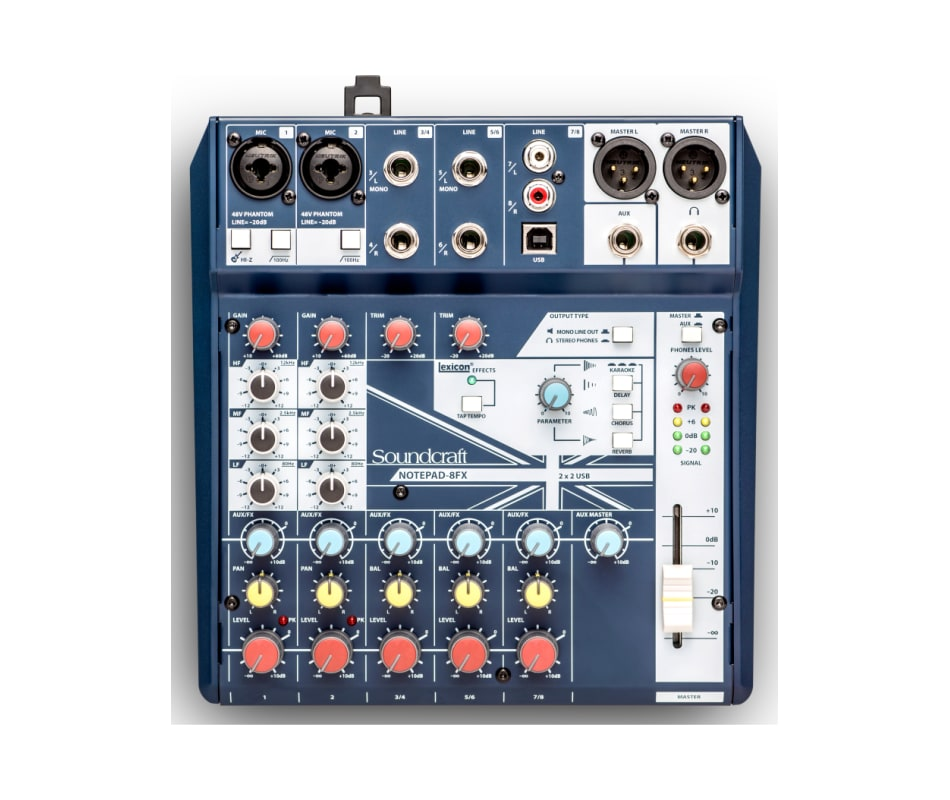 Notepad 8FX Small-Format USB Analog Mixer w/FX