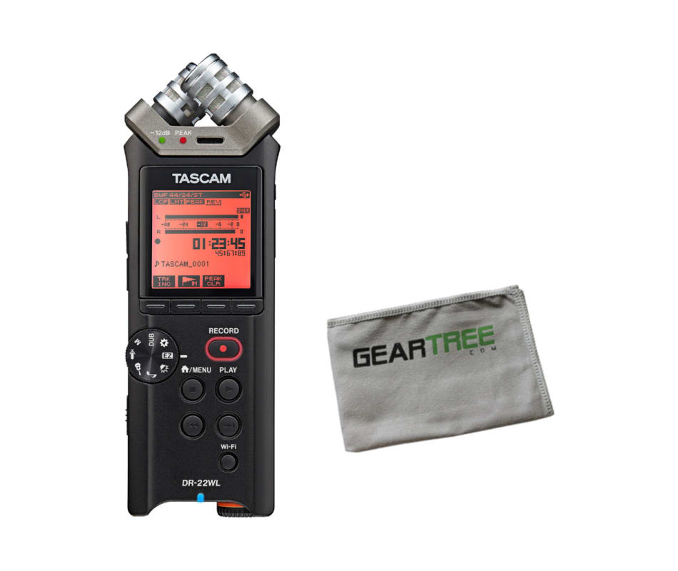 Tascam DR 22WL Portable Recorder with WIFI w/ Gear