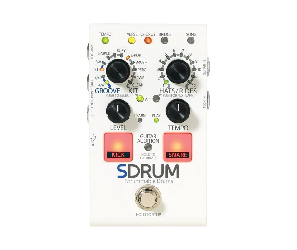 S Drum Strummable Drums Pedal for Guitarists
