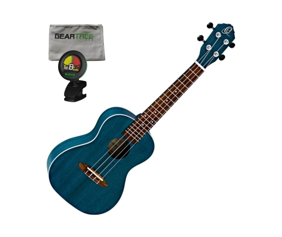 Ortega Guitars RUOCEAN Earth Series Concert Ukulel