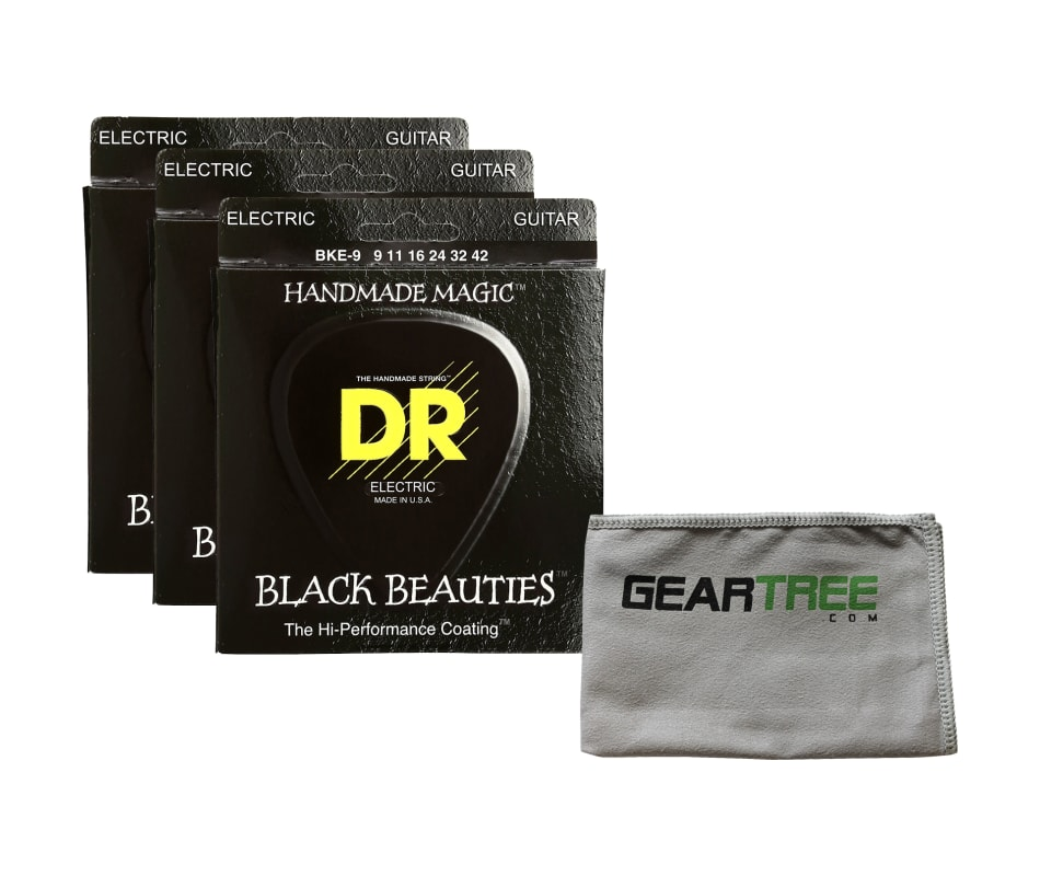 BKE9 Black Beauties Electric Guitar Strings Bundle