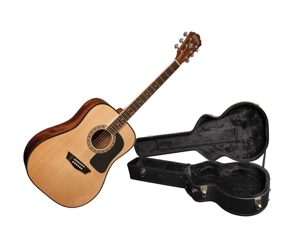 850e8f1f32 Washburn WD5K Apprentice Acoustic Dreadnought Guitar w/ Case