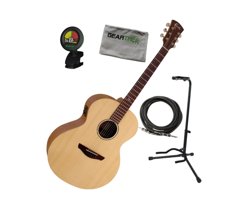 FKNE Neptune Naked Acoustic Electric Guitar Bundle