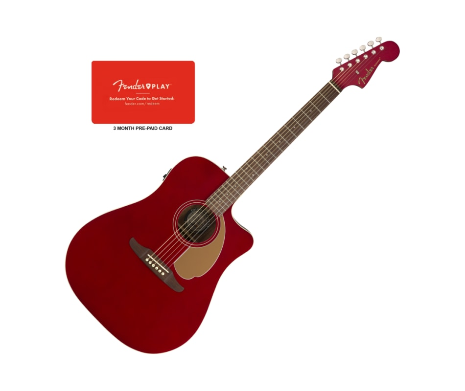 Fender Redondo Player Candy Apple Acoustic-Electri