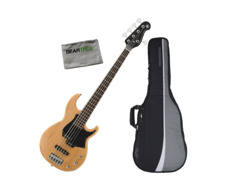 BB235 YNS 5-String Electric Bass Guitar Bundle