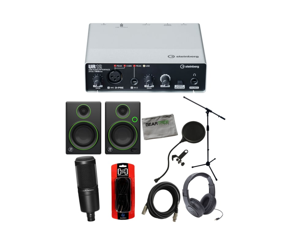R12 USB Audio Recording Interface Bundle