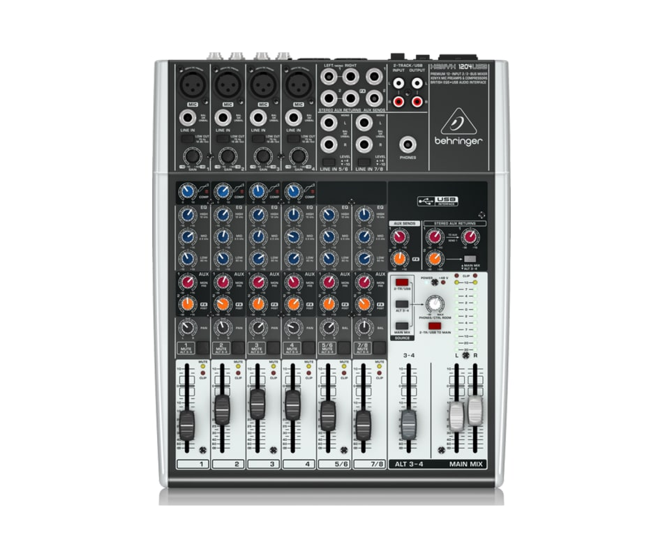 Xenyx 1204USB Mixer 12-Input with Compression