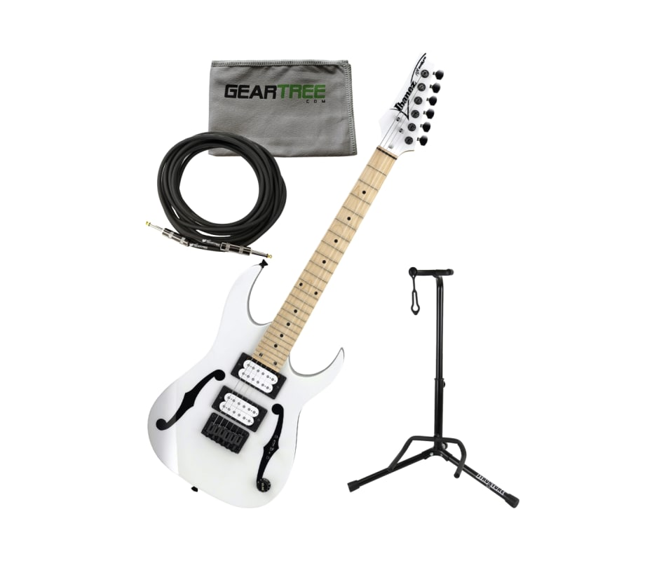 PGMM31 WH Paul Gilbert Sig. Electric Guitar Bundle