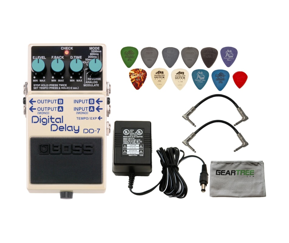 BOSS DD-7 Digital Delay Compact Pedal w/ Power Sup