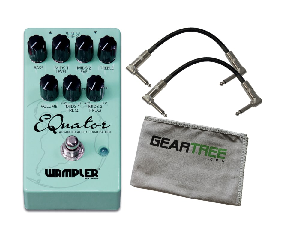 Wampler Equator EQ Pedal Effects Pedal w/ Patch Ca