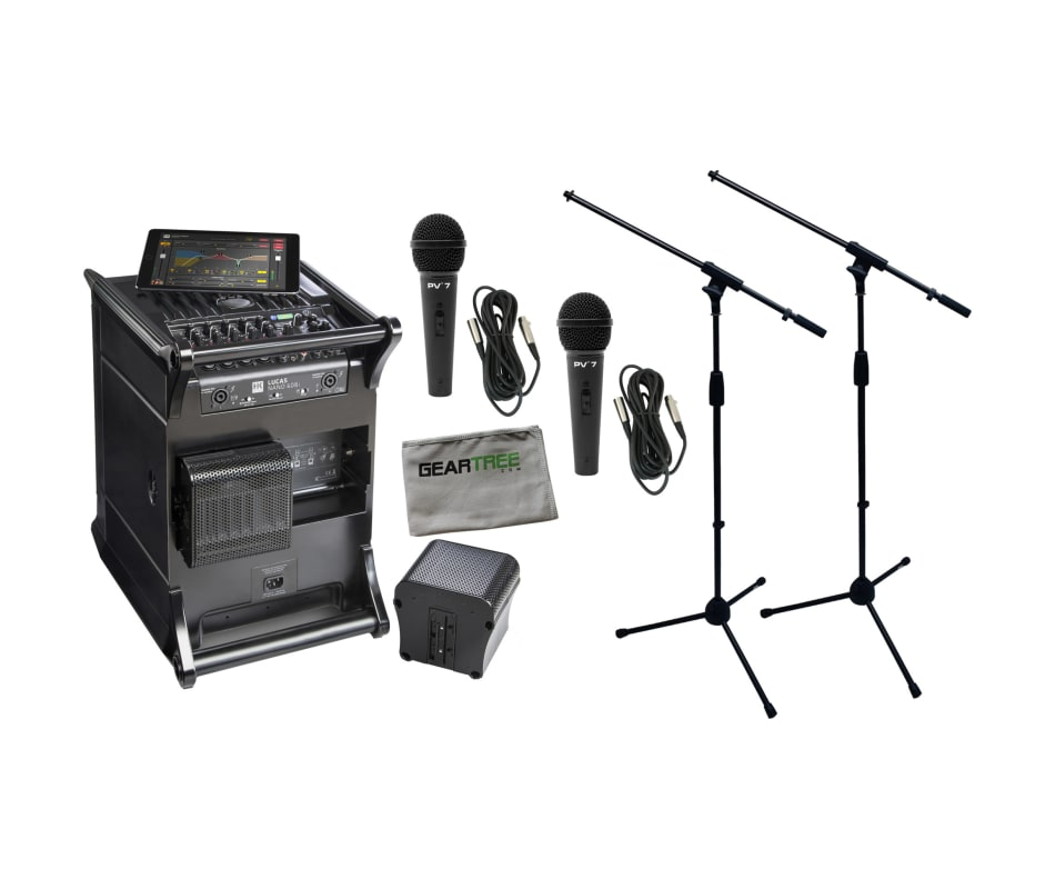 Lucas Nano 608i Bluetooth PA System Bundle
